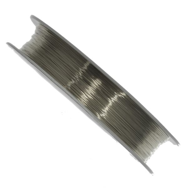 1 SPOOL  OF SILVER PLATED WIRE FOR VIOLIN/CELLO BOWS OR CRAFTS, 0.3 GAUGE!
